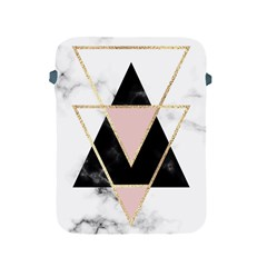 Triangles,gold,black,pink,marbles,collage,modern,trendy,cute,decorative, Apple Ipad 2/3/4 Protective Soft Cases by 8fugoso