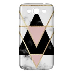 Triangles,gold,black,pink,marbles,collage,modern,trendy,cute,decorative, Samsung Galaxy Mega 5 8 I9152 Hardshell Case  by 8fugoso