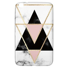 Triangles,gold,black,pink,marbles,collage,modern,trendy,cute,decorative, Samsung Galaxy Tab 3 (8 ) T3100 Hardshell Case  by 8fugoso