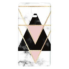 Triangles,gold,black,pink,marbles,collage,modern,trendy,cute,decorative, Galaxy Note 4 Back Case by 8fugoso