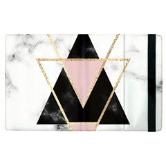 Triangles,gold,black,pink,marbles,collage,modern,trendy,cute,decorative, Apple Ipad Pro 12 9   Flip Case by 8fugoso