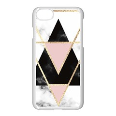 Triangles,gold,black,pink,marbles,collage,modern,trendy,cute,decorative, Apple Iphone 8 Seamless Case (white) by 8fugoso