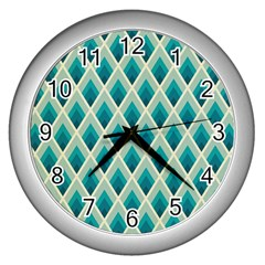Artdecoteal Wall Clocks (silver)  by 8fugoso