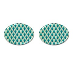 Artdecoteal Cufflinks (oval) by 8fugoso