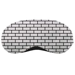 Brick1 Black Marble & White Linen Sleeping Masks by trendistuff