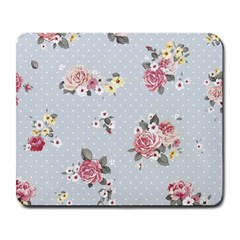 Floral Blue Large Mousepads by 8fugoso