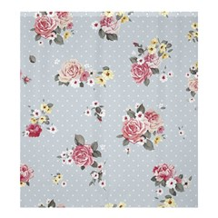 Floral Blue Shower Curtain 66  X 72  (large)  by 8fugoso