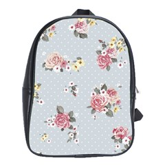 Floral Blue School Bag (large) by 8fugoso