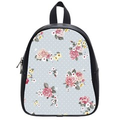 Floral Blue School Bag (small) by 8fugoso