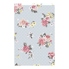 Floral Blue Shower Curtain 48  X 72  (small)  by 8fugoso
