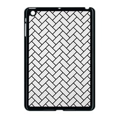 Brick2 Black Marble & White Linen Apple Ipad Mini Case (black)