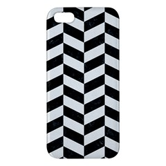 Chevron1 Black Marble & White Linen Iphone 5s/ Se Premium Hardshell Case by trendistuff