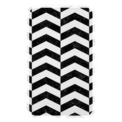 Chevron2 Black Marble & White Linen Memory Card Reader by trendistuff