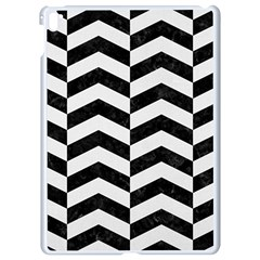 Chevron2 Black Marble & White Linen Apple Ipad Pro 9 7   White Seamless Case by trendistuff