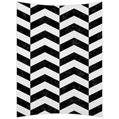 Chevron2 Black Marble & White Linen Back Support Cushion by trendistuff