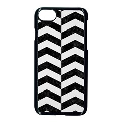 Chevron2 Black Marble & White Linen Apple Iphone 8 Seamless Case (black) by trendistuff