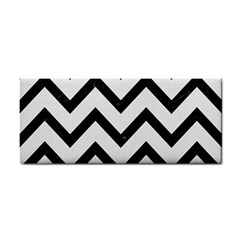 Chevron9 Black Marble & White Linen Cosmetic Storage Cases by trendistuff