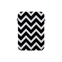Chevron9 Black Marble & White Linen (r) Apple Ipad Mini Protective Soft Cases by trendistuff