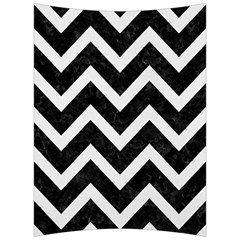Chevron9 Black Marble & White Linen (r) Back Support Cushion by trendistuff