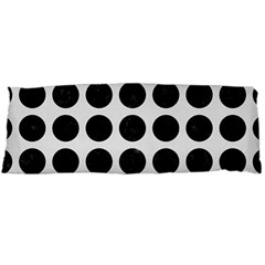 Circles1 Black Marble & White Linen Body Pillow Case Dakimakura (two Sides)