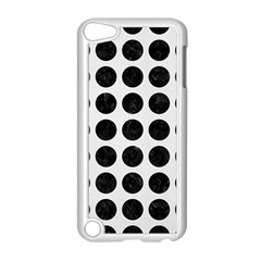 Circles1 Black Marble & White Linen Apple Ipod Touch 5 Case (white) by trendistuff