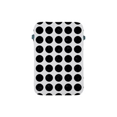 Circles1 Black Marble & White Linen Apple Ipad Mini Protective Soft Cases by trendistuff