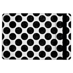 Circles2 Black Marble & White Linen Ipad Air Flip by trendistuff