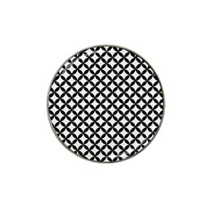 Circles3 Black Marble & White Linen Hat Clip Ball Marker (10 Pack) by trendistuff