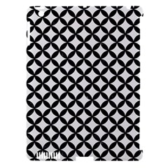 Circles3 Black Marble & White Linen Apple Ipad 3/4 Hardshell Case (compatible With Smart Cover) by trendistuff