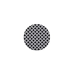 Circles3 Black Marble & White Linen (r) 1  Mini Buttons by trendistuff