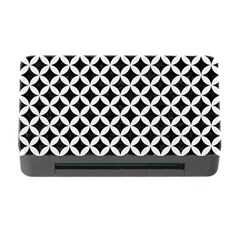 Circles3 Black Marble & White Linen (r) Memory Card Reader With Cf by trendistuff