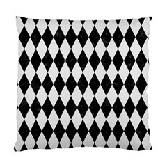 Diamond1 Black Marble & White Linen Standard Cushion Case (one Side) by trendistuff