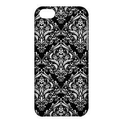 Damask1 Black Marble & White Linen (r) Apple Iphone 5c Hardshell Case by trendistuff