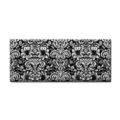 Damask2 Black Marble & White Linen (r) Cosmetic Storage Cases