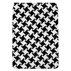 Houndstooth2 Black Marble & White Linen Flap Covers (s)  by trendistuff