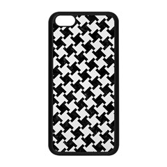 Houndstooth2 Black Marble & White Linen Apple Iphone 5c Seamless Case (black) by trendistuff