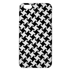 Houndstooth2 Black Marble & White Linen Iphone 6 Plus/6s Plus Tpu Case by trendistuff