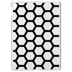 Hexagon2 Black Marble & White Linen Apple Ipad Pro 9 7   White Seamless Case by trendistuff