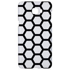 Hexagon2 Black Marble & White Linen Samsung C9 Pro Hardshell Case  by trendistuff