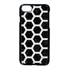 Hexagon2 Black Marble & White Linen (r) Apple Iphone 8 Seamless Case (black) by trendistuff