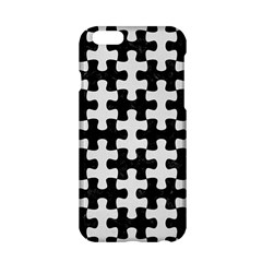 Puzzle1 Black Marble & White Linen Apple Iphone 6/6s Hardshell Case by trendistuff