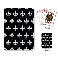 ROYAL1 BLACK MARBLE & WHITE LINEN Playing Card