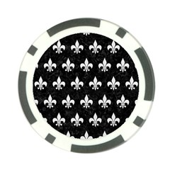 ROYAL1 BLACK MARBLE & WHITE LINEN Poker Chip Card Guard (10 pack)