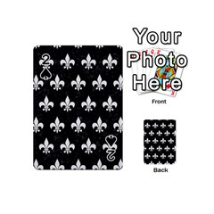 ROYAL1 BLACK MARBLE & WHITE LINEN Playing Cards 54 (Mini)