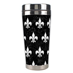 ROYAL1 BLACK MARBLE & WHITE LINEN Stainless Steel Travel Tumblers