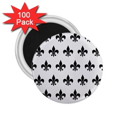 Royal1 Black Marble & White Linen (r) 2 25  Magnets (100 Pack)  by trendistuff