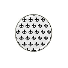 Royal1 Black Marble & White Linen (r) Hat Clip Ball Marker (10 Pack) by trendistuff