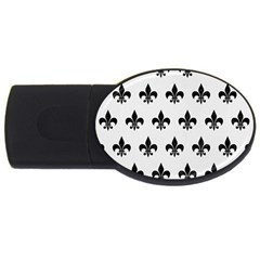 Royal1 Black Marble & White Linen (r) Usb Flash Drive Oval (4 Gb) by trendistuff