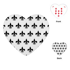 Royal1 Black Marble & White Linen (r) Playing Cards (heart)  by trendistuff