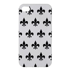 Royal1 Black Marble & White Linen (r) Apple Iphone 4/4s Hardshell Case by trendistuff